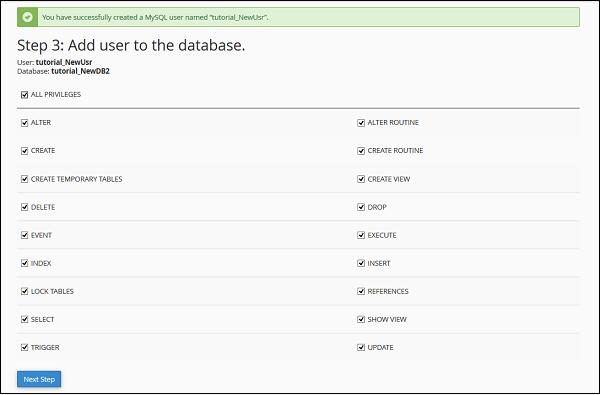 添加用户数据库