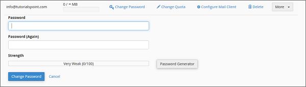 更改密码链接