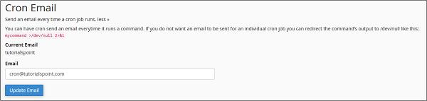 Cron电子邮件