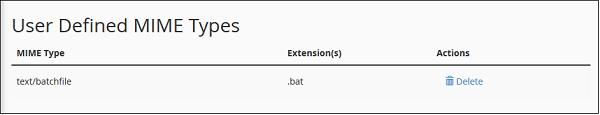 用户MIME类型